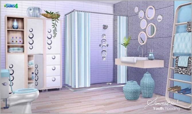 Youth Flooding bathroom at SIMcredible! Designs 4 image 1162 670x397 Sims 4 Updates