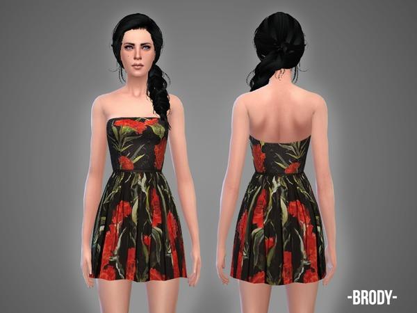 Sims 4 Brody dress by April at TSR