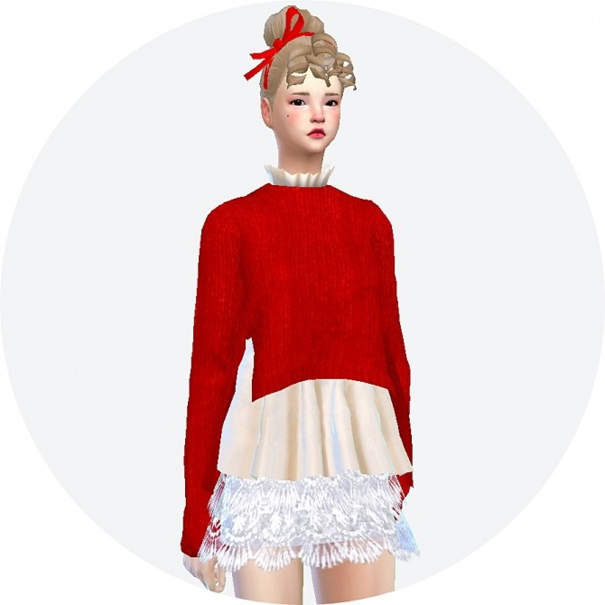 Side vent sweater with flare shirt at Marigold image 11717 670x670 Sims 4 Updates