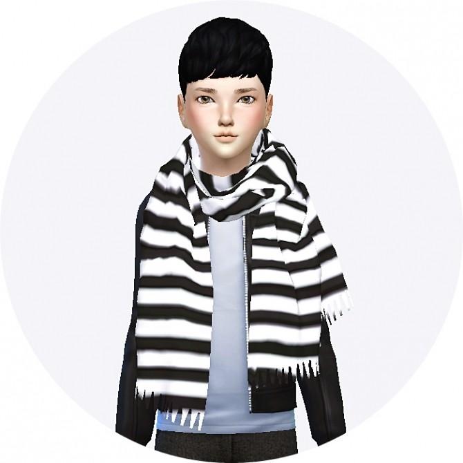 Child Fringe Muffler Scarf At Marigold 187 Sims 4 Updates