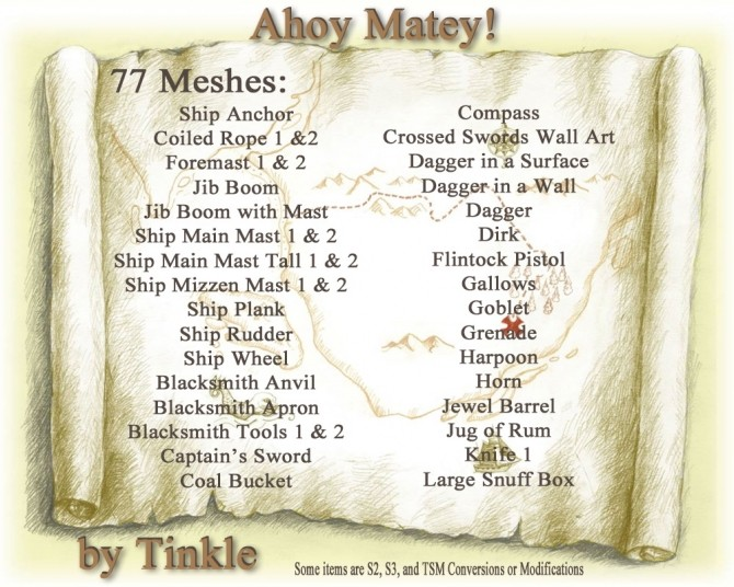 Ahoy Matey objects at Tinkerings by Tinkle image 11816 670x536 Sims 4 Updates