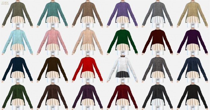 Side vent sweater with flare shirt at Marigold image 11818 670x353 Sims 4 Updates