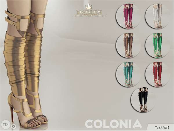 Sims 4 Madlen Colonia Shoes by MJ95 at TSR