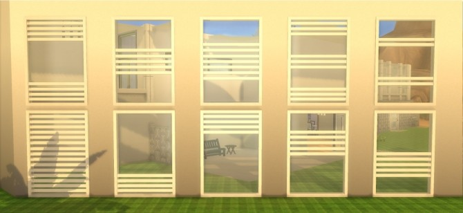 Sims 4 Modern Windows by AdonisPluto at Mod The Sims