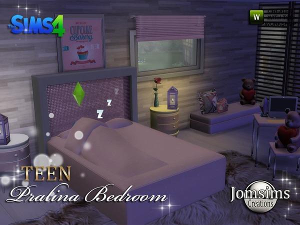 Sims 4 Pralina Teen Bedroom by jomsims at TSR
