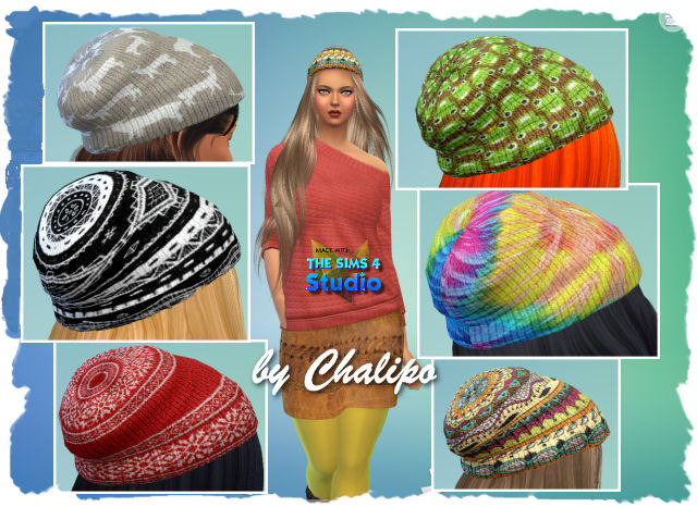 Sims 4 Sweaters and beanies by Chalipo at All 4 Sims