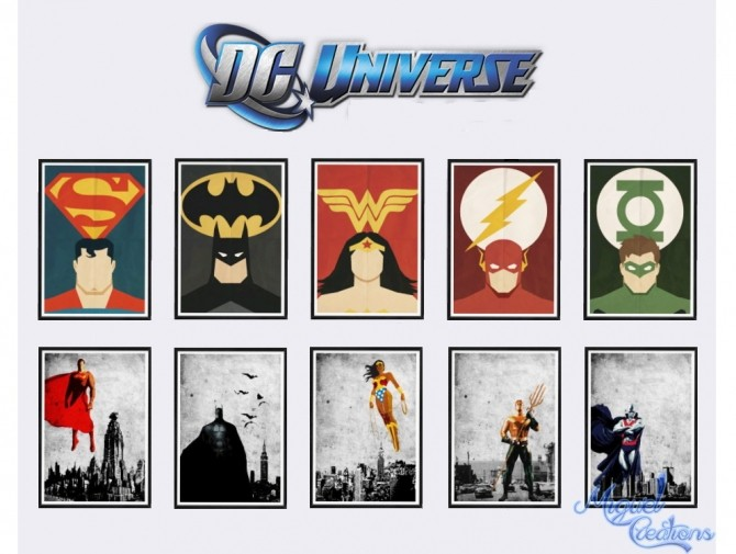 Sims 4 Dc Universe posters at Victor Miguel