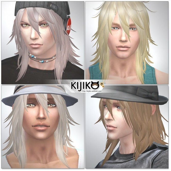 Sims 4 Shaggy Hair M TS4 edition at Kijiko