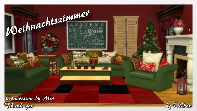 Christmas Room 2015 by Oldbox at All 4 Sims image 1239 Sims 4 Updates