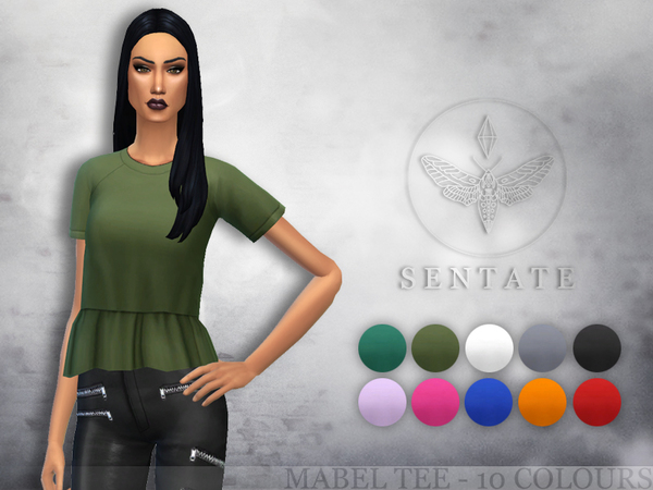 Mabel Tee by Sentate at TSR image 1240 Sims 4 Updates