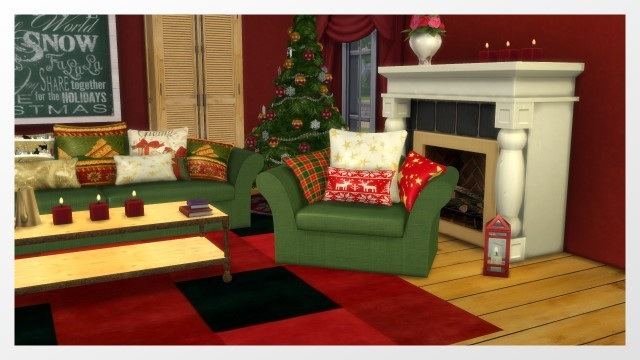Christmas Room 2015 by Oldbox at All 4 Sims image 1248 Sims 4 Updates