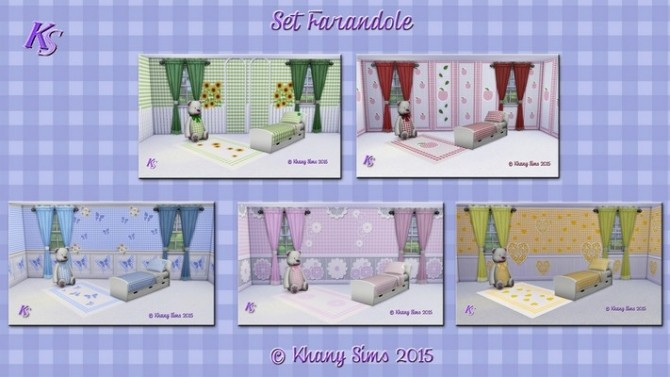 FARANDOLE bedroom by Guardgian at Khany Sims image 12612 670x377 Sims 4 Updates