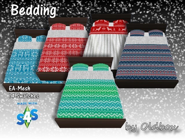 Winter beddings by Oldbox at All 4 Sims image 1275 Sims 4 Updates