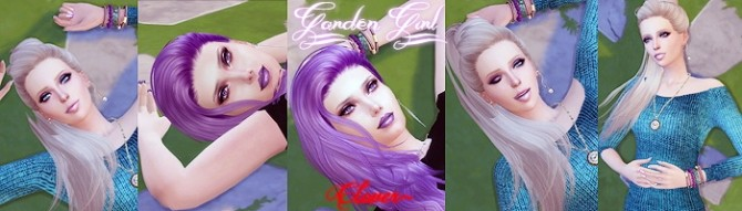 Garden Girl Pose Set by Clover at The Sims Lover image 13112 670x191 Sims 4 Updates