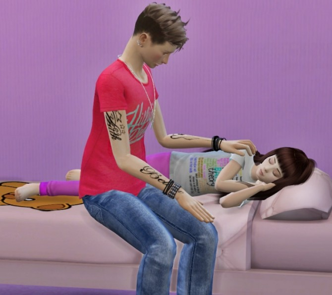 Sims 4 Good night Poses at Chaleara´s Sims 4 Poses