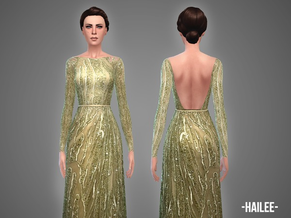 Sims 4 Hailee gown by April at TSR