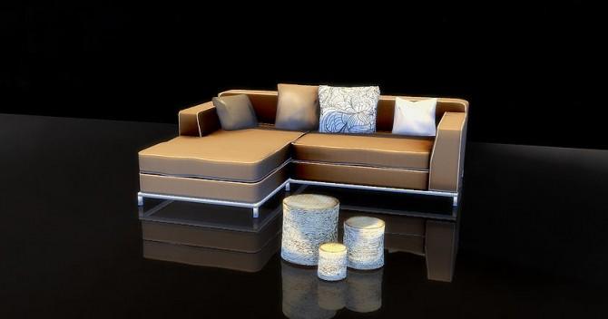 Sims 4 Lounger + Pillows + Table set at Sim o Matic