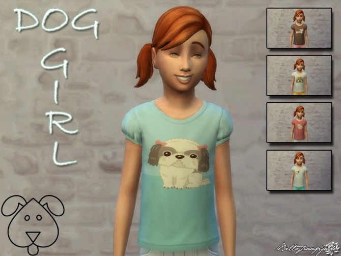 Sims 4 Dog shirts collection by Bettyboopjade at Sims Artists
