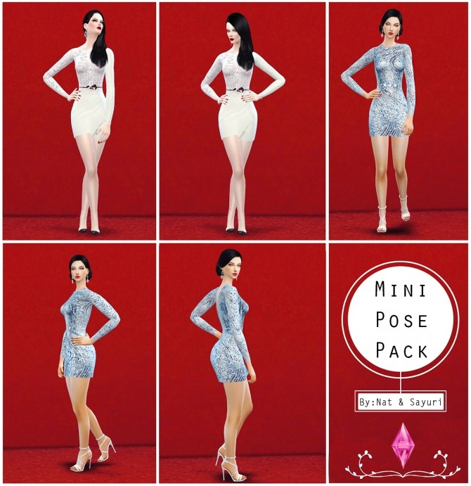 Mini Pose Pack (Nat&Say) at Nat Dream Sims image 1337 670x691 Sims 4 Updates
