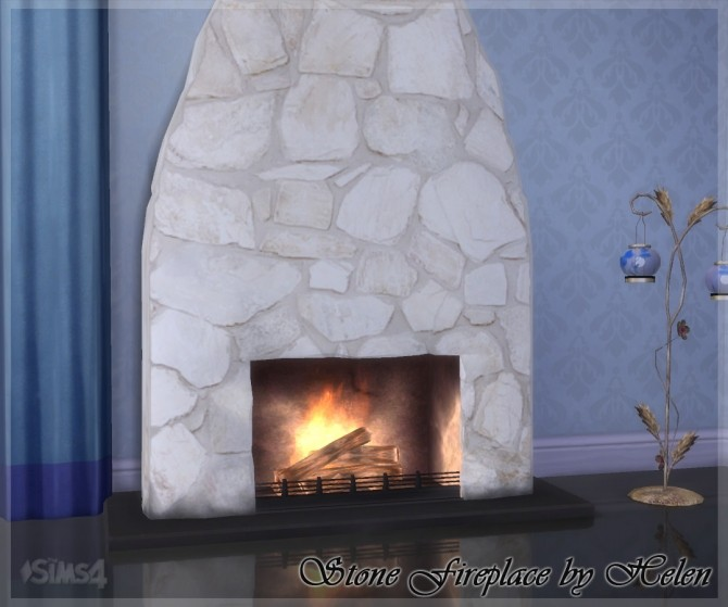 Stone Fireplace at Helen Sims image 1342 670x559 Sims 4 Updates