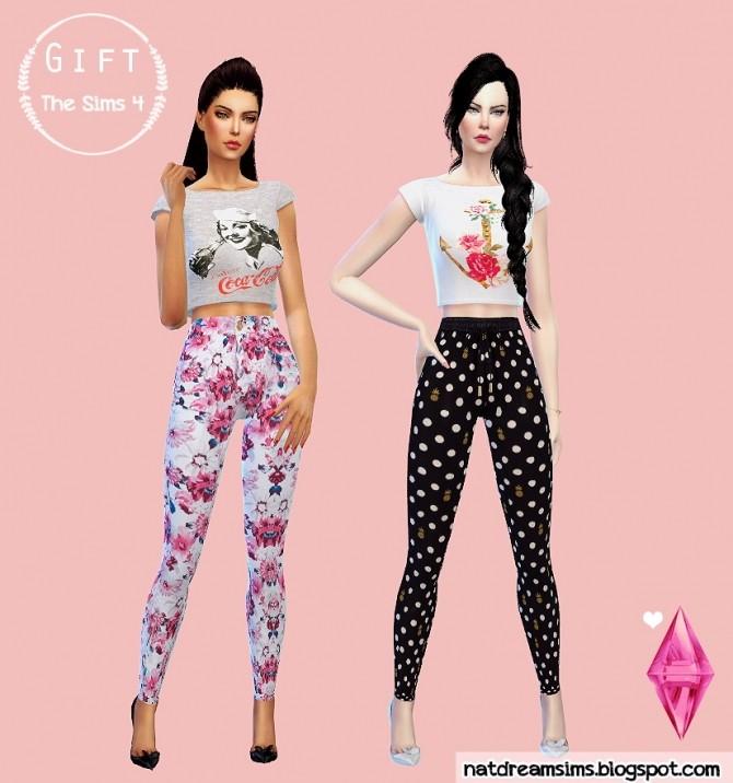 Sims 4 T shirts and pants at Nat Dream Sims
