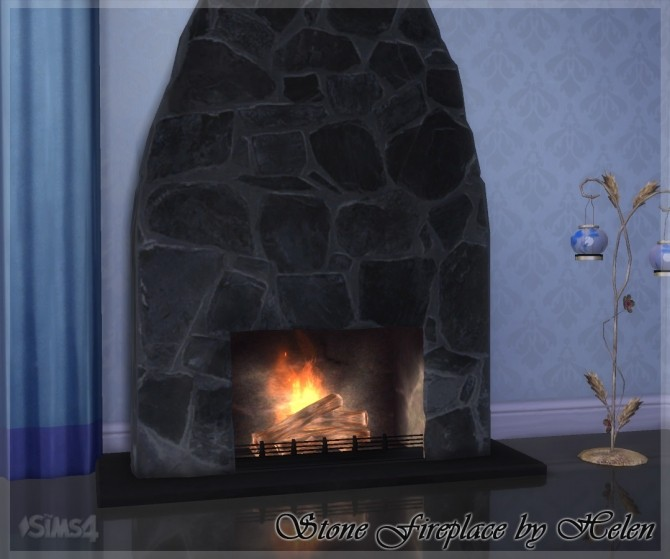 Stone Fireplace at Helen Sims image 1352 670x559 Sims 4 Updates