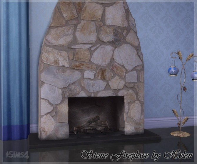 Stone Fireplace at Helen Sims image 1362 670x559 Sims 4 Updates