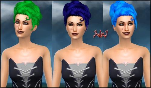 Sims 4 Stealthic Lovesick Hair Retextured at Julietoon – Julie J