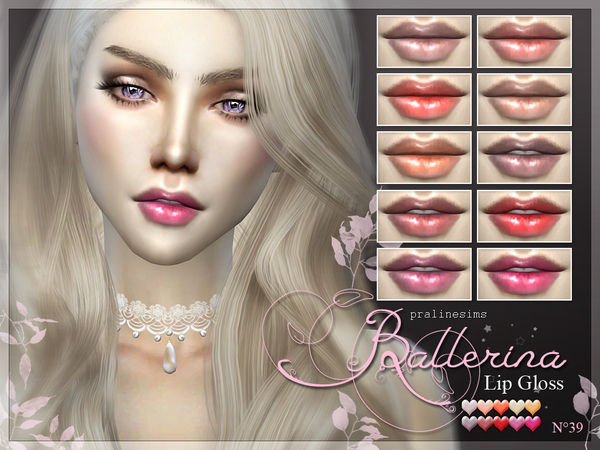 Sims 4 Ballerina Lip Gloss N39 by Pralinesims at TSR