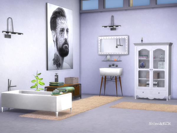 Sims 4 Loft Bathroom by ShinoKCR at TSR
