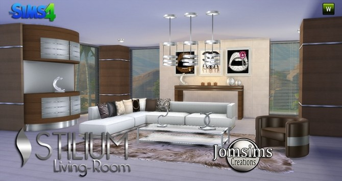 STILIUM livingroom at Jomsims Creations image 141 670x355 Sims 4 Updates
