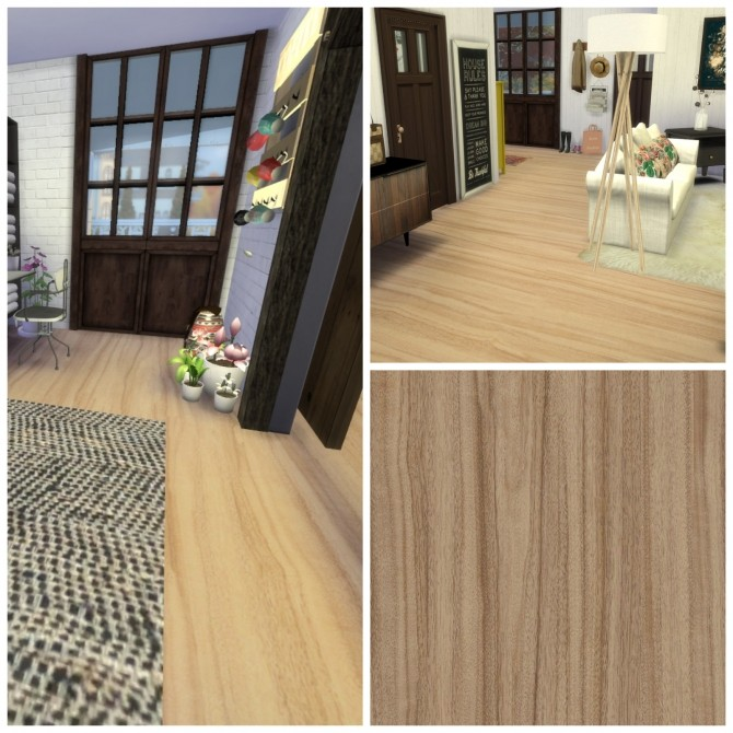 Sims 4 Wooden Floor 102 at Dinha Gamer