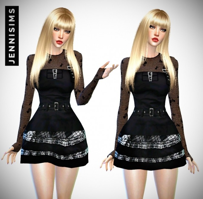 Sims 4 Remember Me Set: Dress, Top, Gloves Top at Jenni Sims