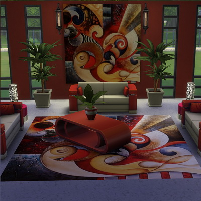 Sims 4 Amytea painting and rug at Trudie55
