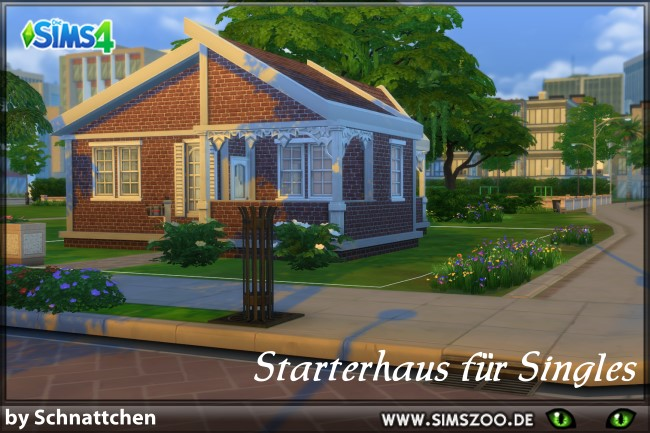 Sims 4 Strter house by Schnattchen at Blacky's Sims Zoo