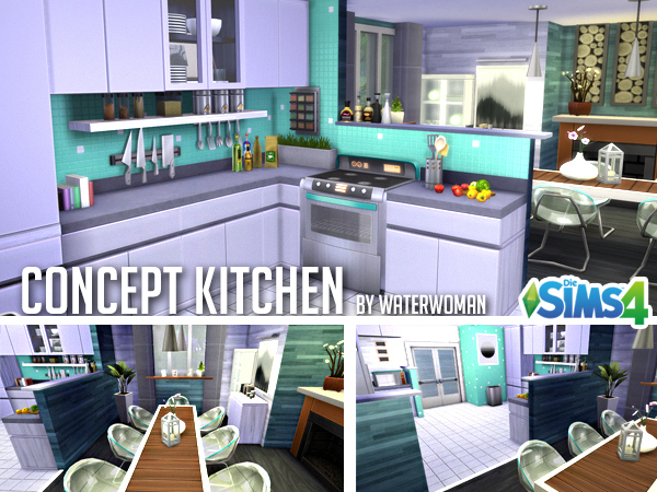 Sims 4 Concept kitchen by Waterwoman at Akisima