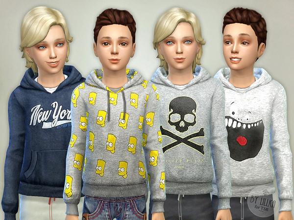 Sims 4 Hoodie for Boys P06 by lillka at TSR