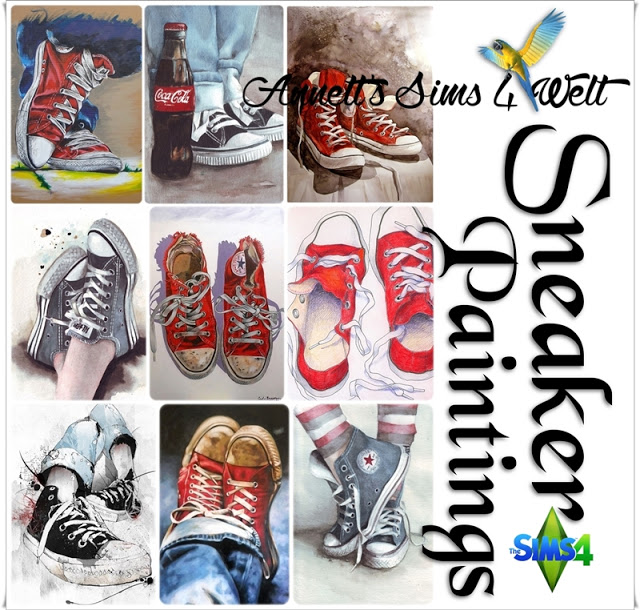 Sneakers Paintings at Annett's Sims 4 Welt image 1492 Sims 4 Updates
