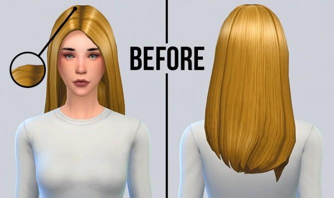 Long Straight Hair Mesh Mix And Recolors At Simserenity