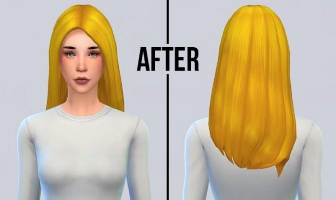 Sims 4 Long straight hair mesh mix and recolors at Simserenity