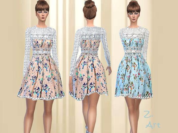 Sims 4 Natural Beauty dress by Zuckerschnute20 at TSR