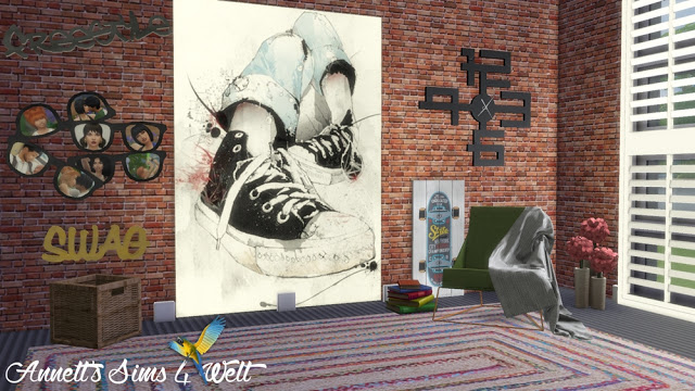 Sims 4 Sneakers Paintings at Annett's Sims 4 Welt