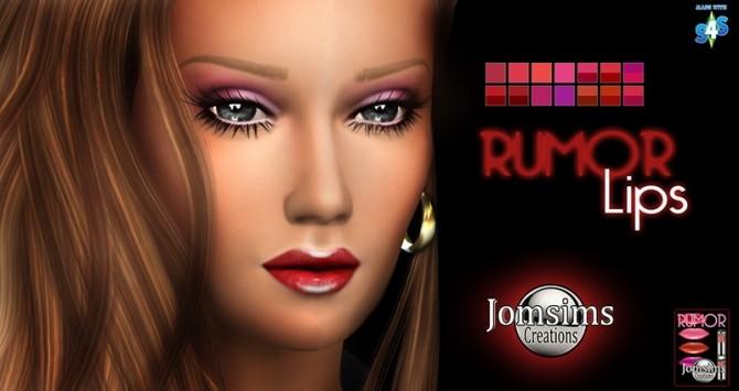 Sims 4 Long nails, eyeshadow, lashes and lips at Jomsims Creations