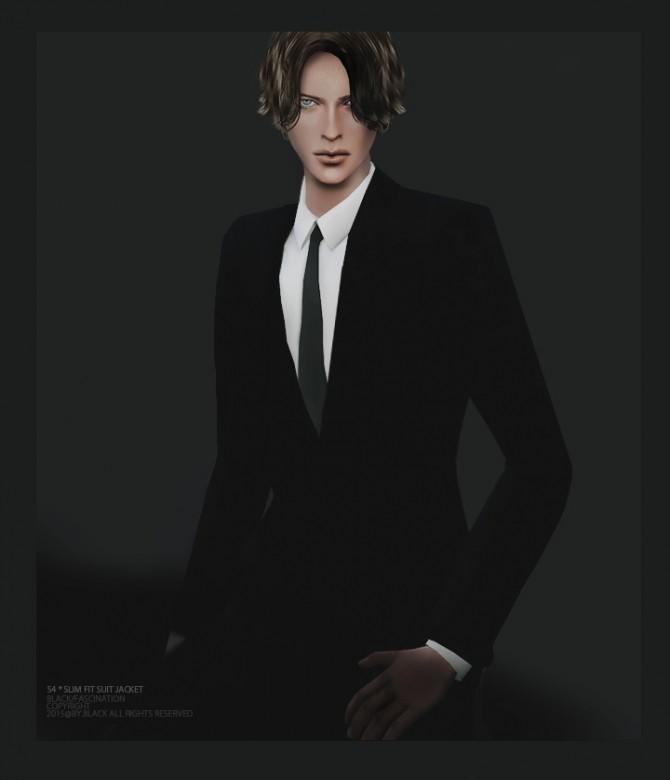 Slim Fit Suit Jacket at Black le image 1549 670x780 Sims 4 Updates