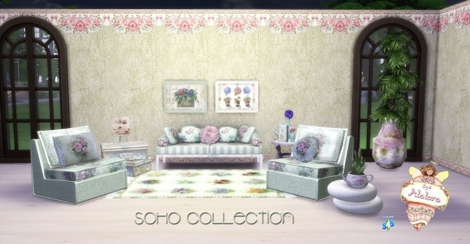 SOHO COLLECTION: walls, pillows and rugs at Alelore Sims Blog image 1553 670x349 Sims 4 Updates