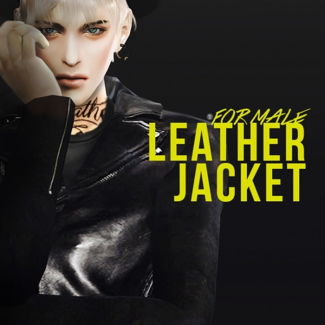 Leather Jacket At Black Le 187 Sims 4 Updates