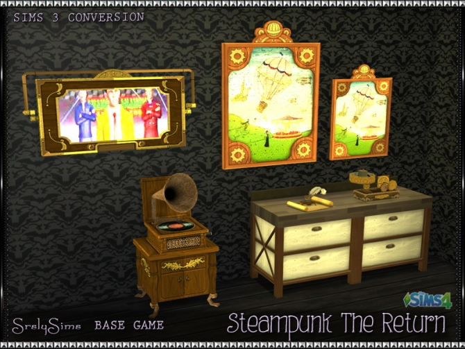 Ring In The Steampunk Decor To Pimp Up Your Home: Steampunk: The Return Objects At SrslySims » Sims 4 Updates