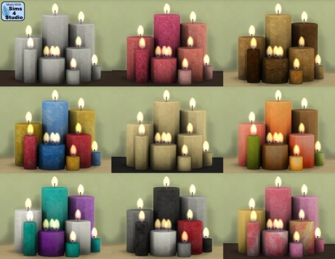 8 Candles By Aom At Sims 4 Studio 187 Sims 4 Updates