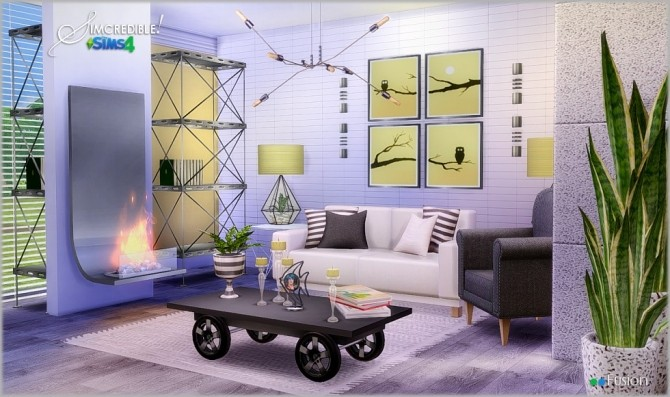 Fusion Industrial Livingroom At Simcredible Designs 4