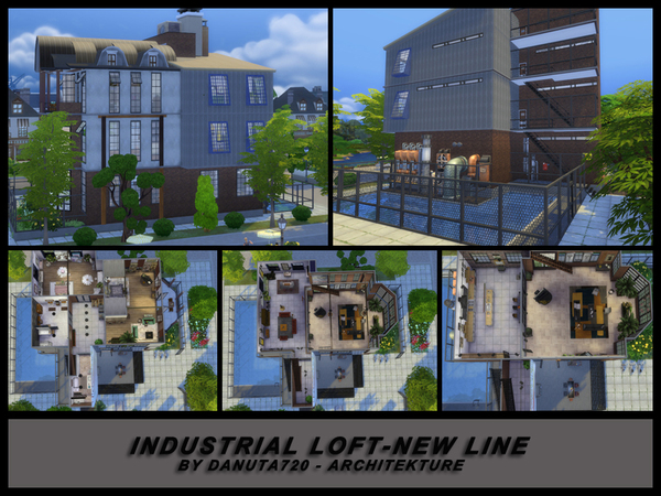 Sims 4 Industrial Loft new line by Danuta720 at TSR